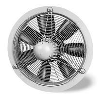 Axial fan / wall-mounted / commercial / metal