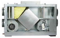 Dual-flow ventilation unit / decentralized / heat-recovery / residential
