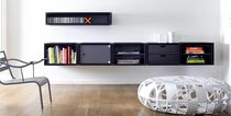Wall-mounted shelf / contemporary / wooden / with drawer