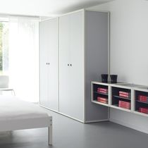Contemporary wardrobe / wooden / with swing doors