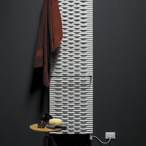 Hot water radiator / electric / steel / contemporary