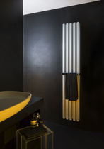 Hot water radiator / aluminum / contemporary / vertical
