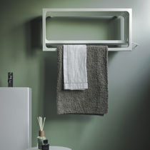 Hot water towel radiator / electric / steel / contemporary