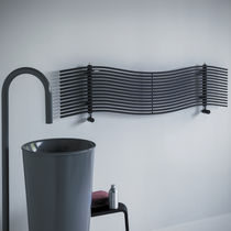 Hot water radiator / carbon steel / chrome / contemporary