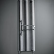 Hot water towel radiator / steel / contemporary / tubular