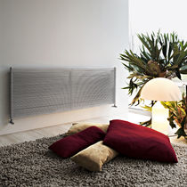Hot water radiator / stainless steel / contemporary / horizontal