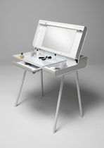 Contemporary dressing table / metal / glass / commercial