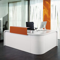 Modular reception desk / laminate / metal