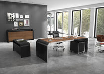 Laminate desk / metal / contemporary / commercial
