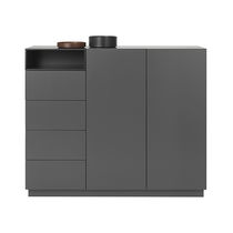 Sideboard wandhängend  Wall-mounted sideboard / contemporary / wooden / lacquered wood ...