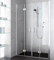 Sliding shower screen / folding / for alcoves / corner
