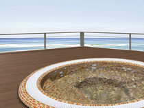 Built-in hot tub / round / 6-seater