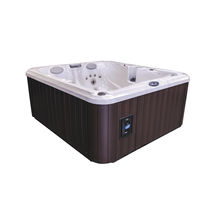Built-in hot tub / above-ground / rectangular / 5-seater
