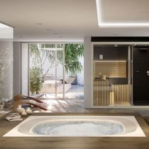 Built-in hot tub / square / 6-seater / indoor