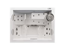 Above-ground hot tub / rectangular / 3-seater / outdoor