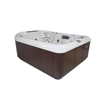 Above-ground hot tub / rectangular / 8-seater / outdoor