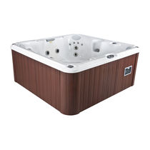 Above-ground hot tub / square / 7-seater / outdoor