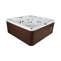 Above-ground hot tub / square / 6-seater / outdoor