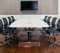 Contemporary conference table / wooden / laminate / rectangular