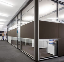Removable partition / glazed / double-glazed / professional