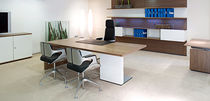 Workstation desk / executive / aluminum / glass