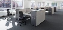 Workstation desk / laminate / contemporary / commercial