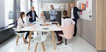 Contemporary boardroom table / oak / solid wood / MDF