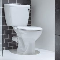 Monobloc toilet / ceramic / with lever