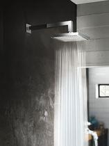 Wall-mounted shower head / square / rain