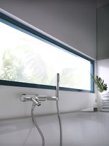Bathtub mixer tap / shower / wall-mounted / brass