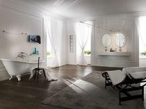 Bathtub mixer tap / wall-mounted / chrome-plated brass / bathroom