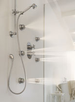 Recessed wall shower set / traditional / with hand shower