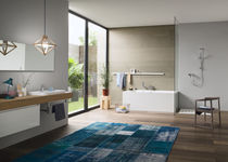 Bathtub mixer tap / wall-mounted / chrome-plated brass / thermostatic