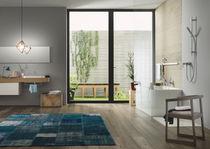 Shower mixer tap / wall-mounted / brass / bathroom