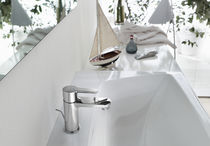 Washbasin mixer tap / deck-mounted / brass / bathroom