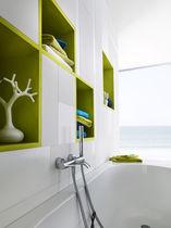 Shower mixer tap / mixer for bathtubs / wall-mounted / brass