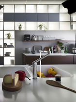 Chrome-plated brass mixer tap / kitchen / 1-hole / swivel spout