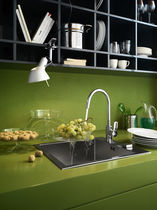 Brass mixer tap / kitchen / 1-hole / swivel spout