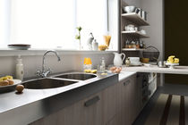 Free-standing double-handle mixer tap / chrome-plated brass / kitchen / 1-hole