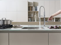 Chrome-plated brass mixer tap / kitchen / 1-hole / with pull-out spray