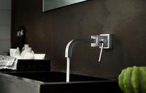 Washbasin mixer tap / wall-mounted / brass / bathroom