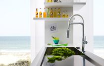 Brass mixer tap / kitchen / 1-hole / with pull-out spray