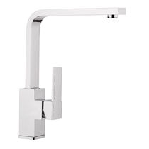 Chromed metal mixer tap / chrome-plated brass / kitchen / 1-hole