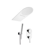 Recessed wall shower set / contemporary / with hand shower / with fixed shower head