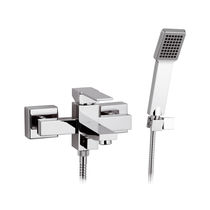 Shower mixer tap / for bathtubs / wall-mounted / chromed metal