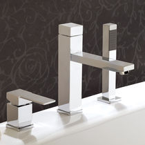 Shower mixer tap / bathtub / chromed metal / chrome-plated brass
