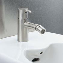 Bidet mixer tap / brass / stainless steel / bathroom