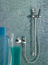 Recessed wall shower set / contemporary / with hand shower