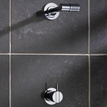 Shower mixer tap / built-in / metal / bathroom