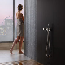 Shower mixer tap / built-in / metal / thermostatic
